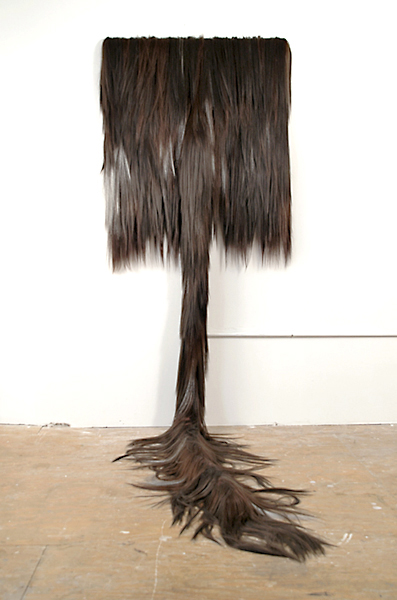 <em>Untitled (Hair Painting - Brown)</em> - 2007