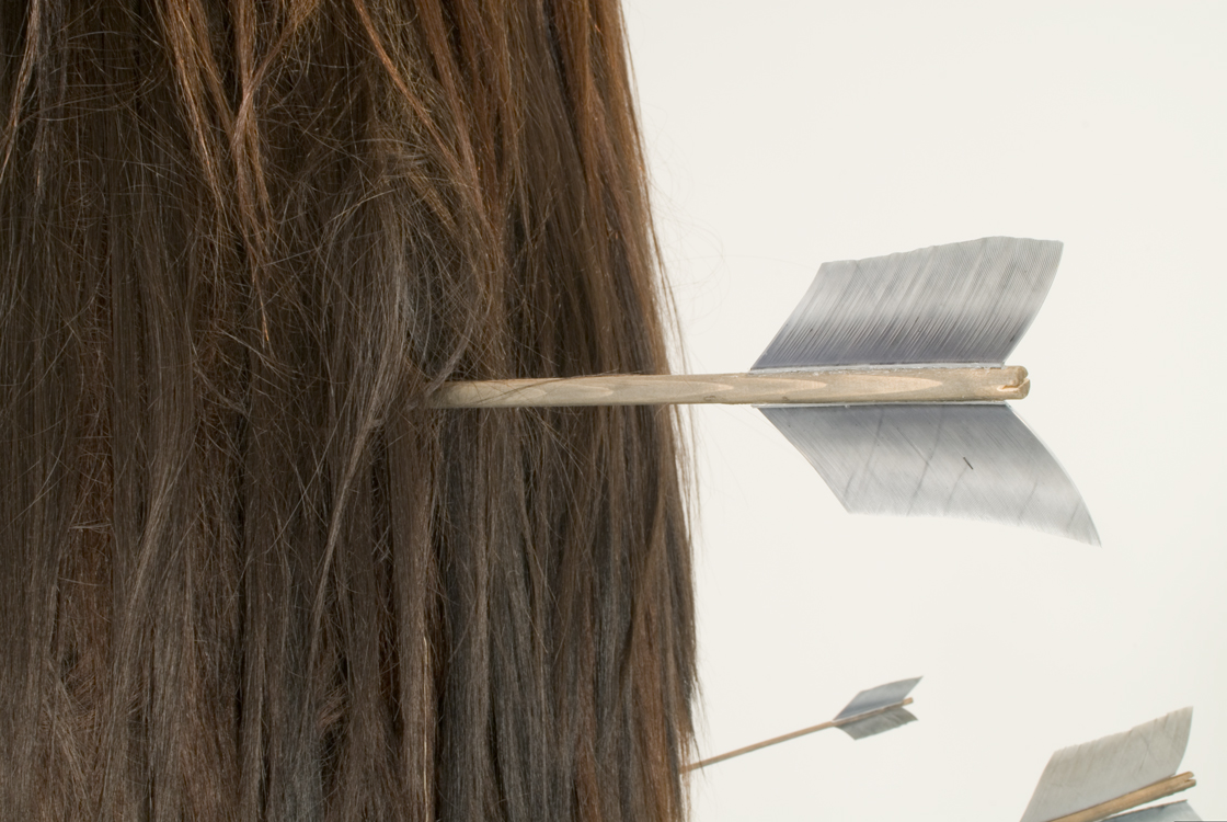 <em>Hair Form with Arrows</em> (detail) - 2007